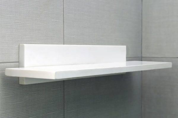 estante blanco ducha